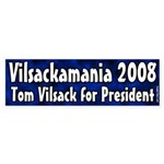 Tom Vilsackamania bumper sticker