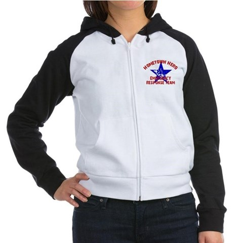 Hometown Hero ERT Flag Women's Raglan Hoodie by CafePress