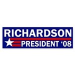 Richardson: President '08 bumper sticker
