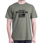 Thank a Veteran black print Dark T-Shirt