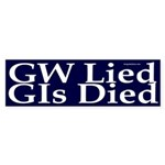 GW Lied, GIs Died Sticker (Bumper)
