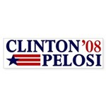 Clinton-Pelosi 2008 Sticker (Bumper)