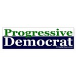 Progressive Democrat Sticker (Bumper)