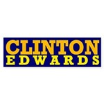 Clinton-Edwards 2008 Bumper Sticker