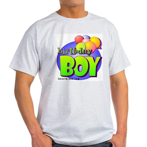 Birthday Boy Ash Grey T-Shirt. Baby Light T-Shirt by CafePress