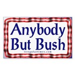 Anybody But Bush Sticker (Rectangular)