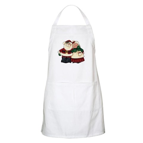 Mr. Mrs. Claus BBQ Holiday Apron by CafePress