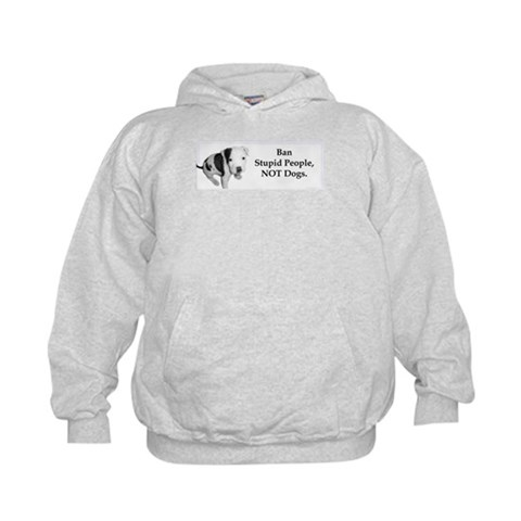 Anti BSL  Pit bull Kids Hoodie by CafePress