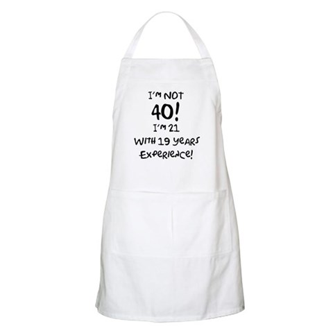 40th Birthday Fun BBQ  Funny Apron by CafePress