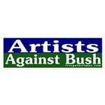 Artists Against Bush Sticker (Bumper)