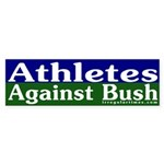 Athletes Against Bush Sticker (Bumper)