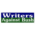 Writers Against Bush Sticker (Bumper)