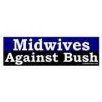 Midwives Against Bush Sticker (Bumper)