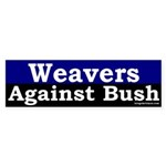 Weavers Against Bush Sticker (Bumper)