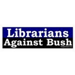 Librarians Against Bush Sticker (Bumper)