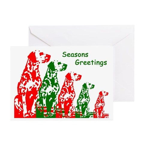 Dalmatian Holiday Cards Pk of 10 Dog breeds Greeting Cards Pk of 10 by CafePress
