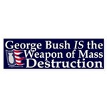 George Bush: WMD Sticker (Bumper)
