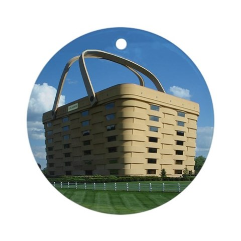 Longaberger Basket Ornament Round Ohio Round Ornament by CafePress