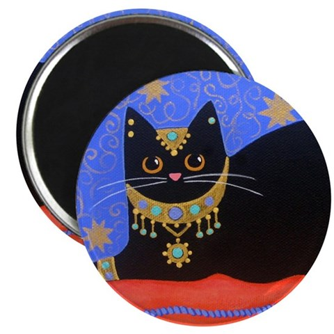 Black Moroccan CAT ART Pets Magnet by CafePress