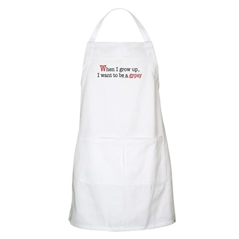 ... a gypsy BBQ  Fantasy Apron by CafePress