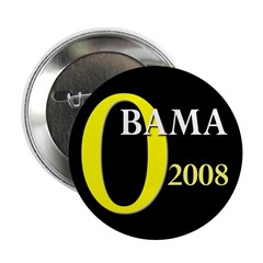 O for Obama 2008 2.25 Button (100 pack)