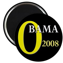 O for Obama 2008 Magnet