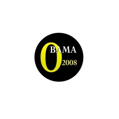 O for Obama 2008 Mini Button (10 pack)