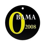 O for Obama 2008 Ornament (Round)