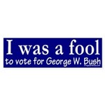 I was a Fool Sticker (Bumper)