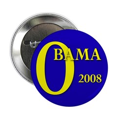 Blue O: Obama 2008 2.25 Button (100 pack)