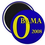 "Blue O: Obama 2008 2.25"" Magnet (100 pack)"