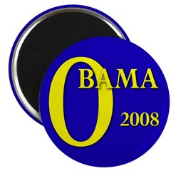 Blue O: Obama 2008 Magnet