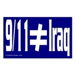 9/11 Does Not Equal Iraq (Sticker)