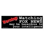 Watching Fox News Sticker (Bumper)