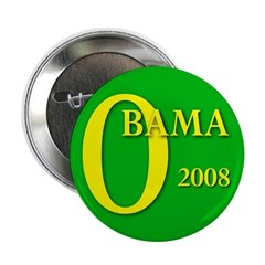 Green Obama for President Button