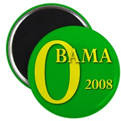 Green Obama for President 2.25 Magnet (100 pack)