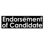 Endorsement of Candidate Sticker (Bumper