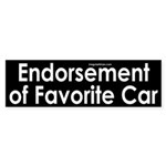 Endorsement of Favorite Car Sticker (Bum
