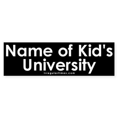 Name of Kid's University Sticker (Bumper