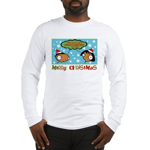 Gi Mi A Jamaica Christmas Long Sleeve T- Christmas Long Sleeve T-Shirt by CafePress