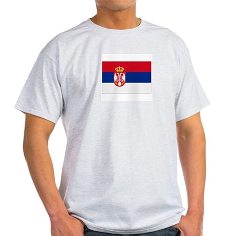 Serbia Ash Grey T-Shirt Serbia flags Light T-Shirt by CafePress