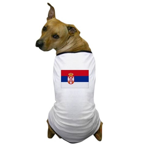 Serbia Serbia flags Dog T-Shirt by CafePress