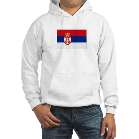 Serbia Serbia flags Hooded Sweatshirt by CafePress
