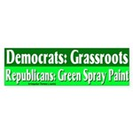 Grassroots Spray Paint Bumper Sticker