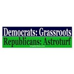 Republicans: Astroturf Sticker (Bumper)