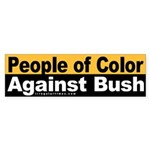 People of Color Against Bush (Sticker)
