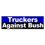 Truckers Against Bush Sticker (Bumper)