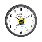 Seattle Houseboats Wall Clock