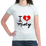 I Heart Misty Junior Ringer T-Shirt