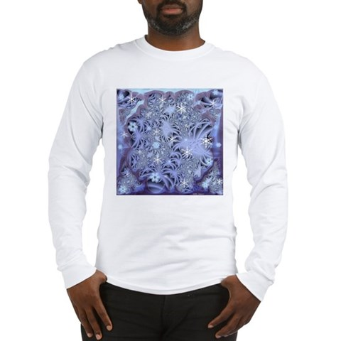 Snowflake Fractal Art Long Sleeve TShirt Christmas Long Sleeve T-Shirt by CafePress